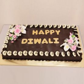 Square Diwali Chocolate Cake