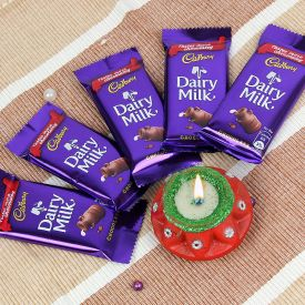 Dairy Milk with Diyas