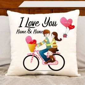 Love You Name Cushion