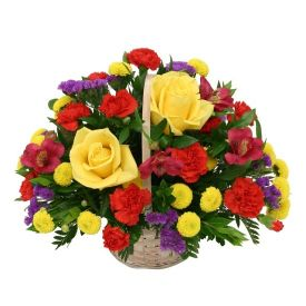 Basket of 20 Mixed flowers