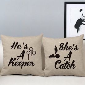 His and Hers Pillow