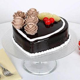 Chocolaty Heart Shape Cake
