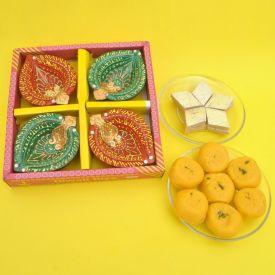 Sweets with Diya Combo