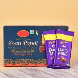 Soan Papdi With Chocolate