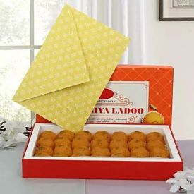 Moti Choor Laddoo with Greeting Card