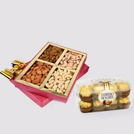 Mixed dry fruits and chocolates