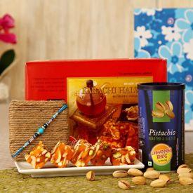 Karachi Halwa with Pistachio in a Gift Box