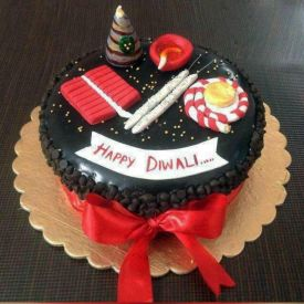 Diwali Crackers Chocolate Cake