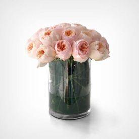 Pinky Roses In Vase