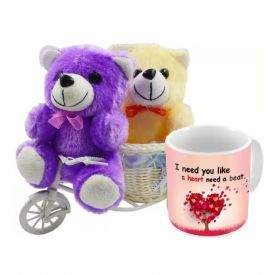 Mug (Customize) with 2 small Teddy