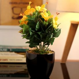 Polyester & Ceramic Decorative Artificial Plant in a Chic Ceramic Pot