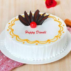 Vanilla Diwali Cake