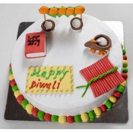 Diwali Vanilla cake