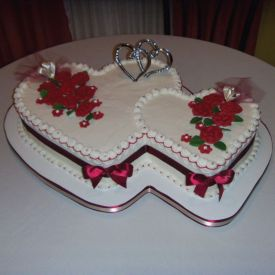 Couple cake heart shaped cake