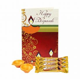 Greeting Card With 5 Star Chocolate