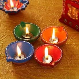 Handpainted Decorative Diya For this Diwali