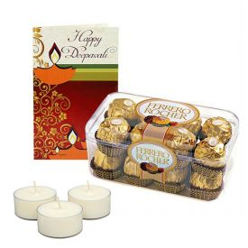 Ferrero Rocher with Diya & Greeting Card