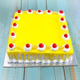 Square Sweet Pineapple Cake