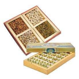 kaju Roll Box with Mixed Dry Fruits