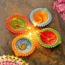 Set of 5 Decorative Diyas