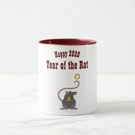 Happy New Year Tri Colour 2 Two-Tone Coffee Mug