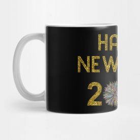 Colourfull Printed Happy new year Mug