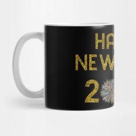 Colourfull Printed Happy new year Mug