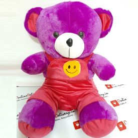 Purple Teddy Bear with Smile