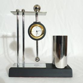 Unique Pen Stand with Clock