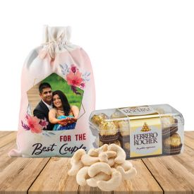 Dry Fruits Combo With Personalized Potli