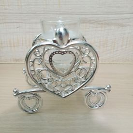 Heart shaped Silver Candle
