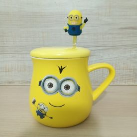 Minions Mug with Minions Spoon
