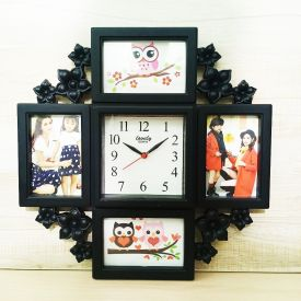 Photo Frame With Wall Clock