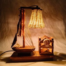 Ship Lamp with Pen Stand