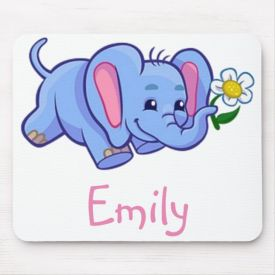 Cute Elephant Kids Mouse Pad