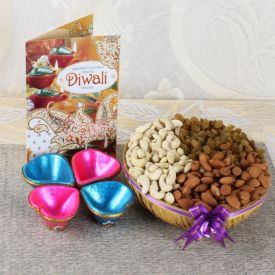 Mixed Dry Fruits With Wax Diya