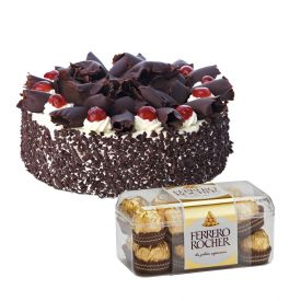 Black forest with ferrero rocher