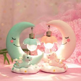 Couple Light Unicorn Moon