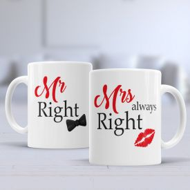 Mr & Mrs Right Mugs