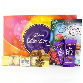 Mixed Chocolate With Greeting Card