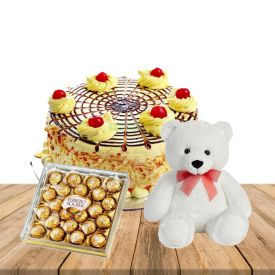 Teddy bear, 24 pcs rocher ferrero