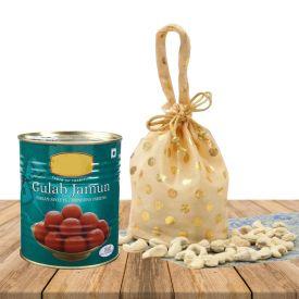Cashew With Gulab Jamun
