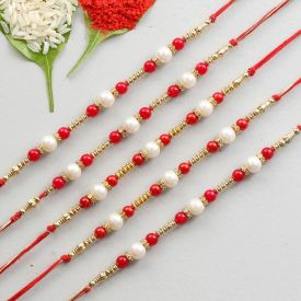 5 Pcs Rakhi Set