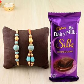 Silk with Rakhi Combo
