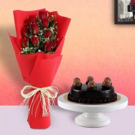 Ferrero Rocher cake with Roses