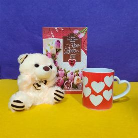 Mug With Teddy and Greeting Card