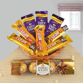 Combination basket of chocolates