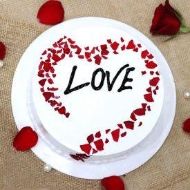 Heart shape Love cake