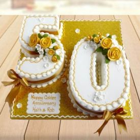 Fifty Number design Cake