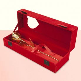Golden Rose with Velvet Box Set